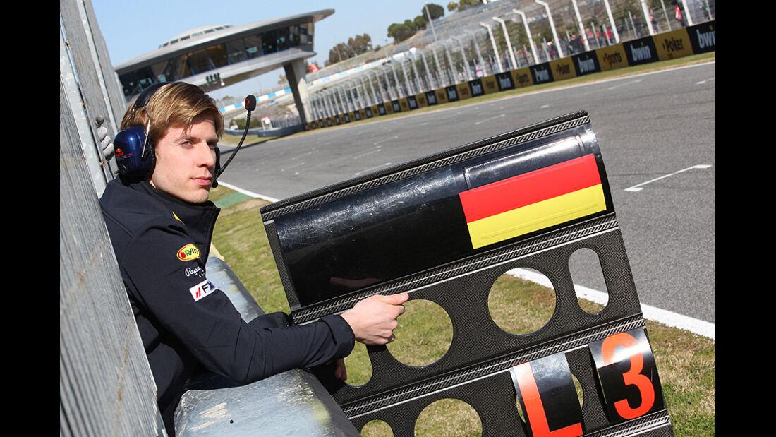 Formel 1-Test, Jerez, 9.2.2012, Heikki Huovinen, neuer Physiotherapeut von Sebastian Vettel