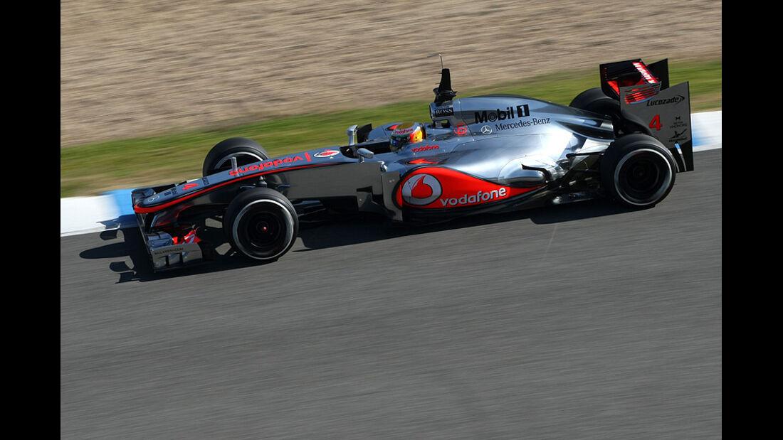 Formel 1-Test, Jerez, 9.2.2012, Lewis Hamilton, McLaren