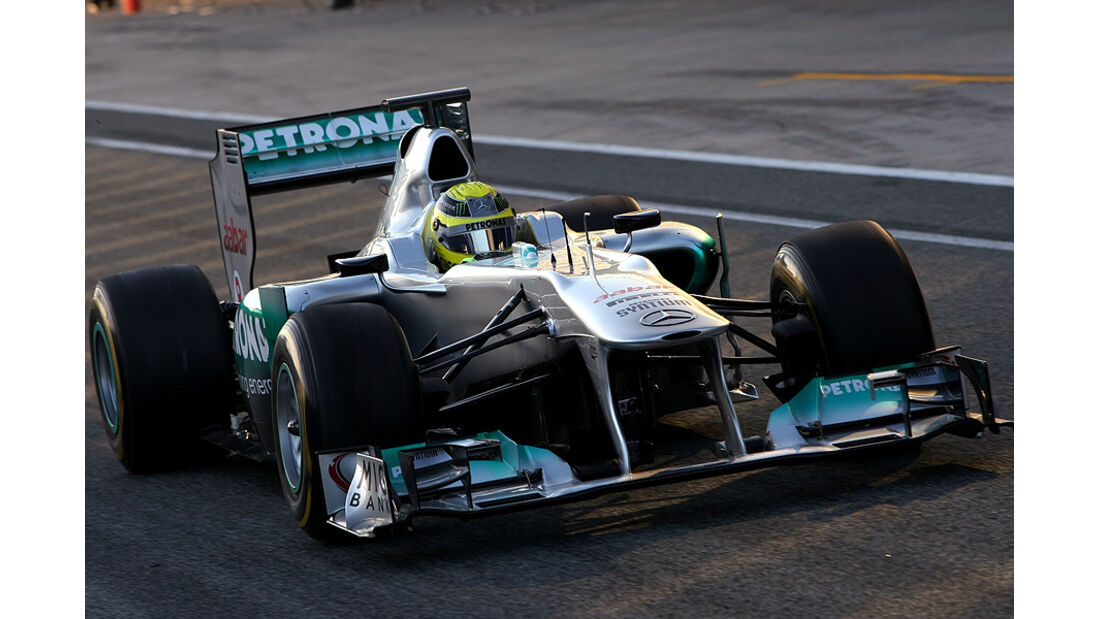 Formel 1-Test, Jerez, 9.2.2012, Nico Rosberg, Mercedes GP