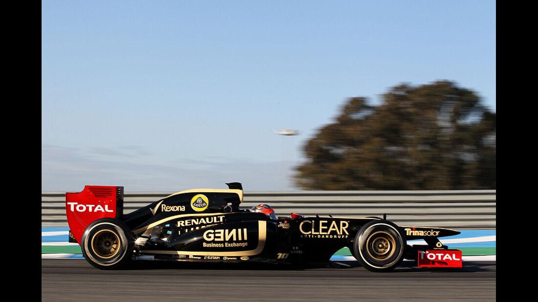 Formel 1-Test, Jerez, 9.2.2012, Romain Grosjean, Lotus Renault GP