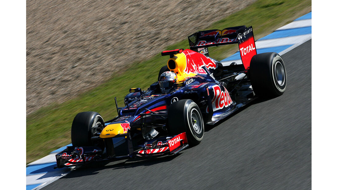 Formel 1-Test, Jerez, 9.2.2012, Sebastian Vettel, Red Bull