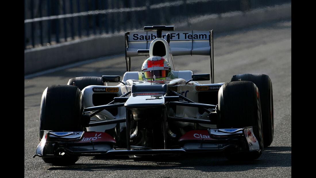 Formel 1-Test, Jerez, 9.2.2012, Sergio Perez, Sauber