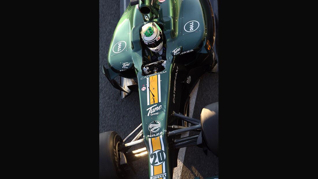 Formel 1 Test, Jerez, Tag 1, Caterham, Heikki Kovalainen