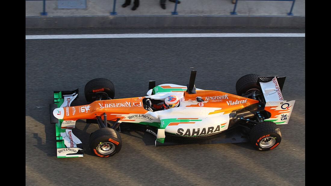 Formel 1 Test, Jerez, Tag 1, Force India, Paul di Resta
