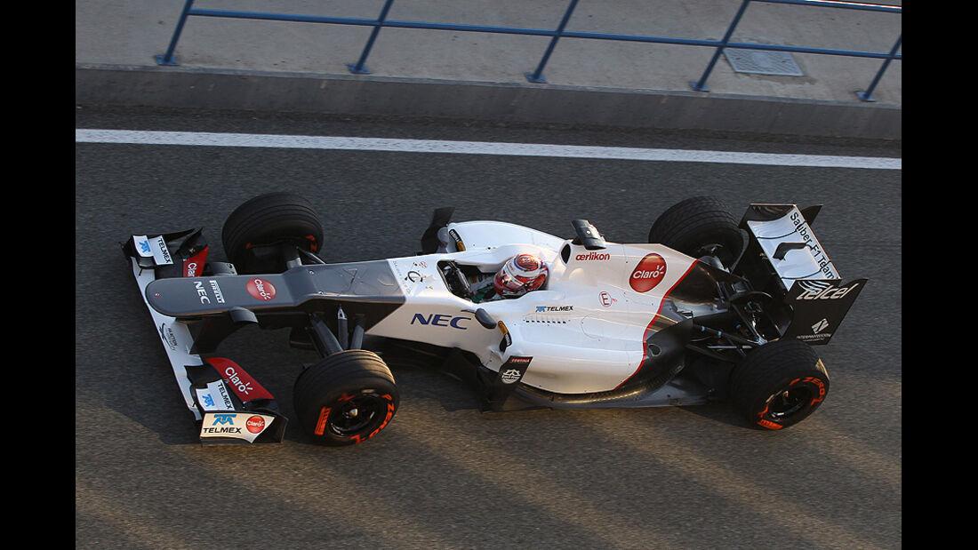 Formel 1 Test, Jerez, Tag 1, HRT, Pedro de la Rosa