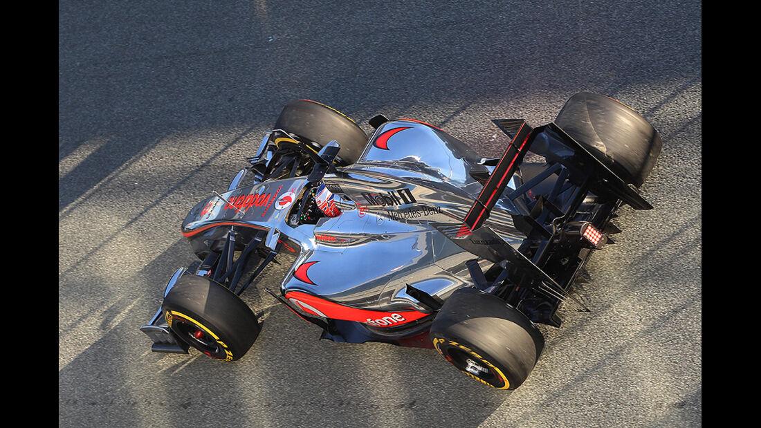 Formel 1 Test, Jerez, Tag 1, McLaren, Jenson Button