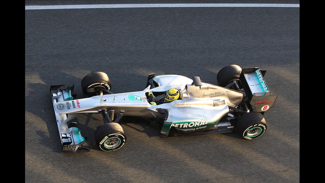 Formel 1 Test, Jerez, Tag 1, Mercedes GP, Nico Rosberg