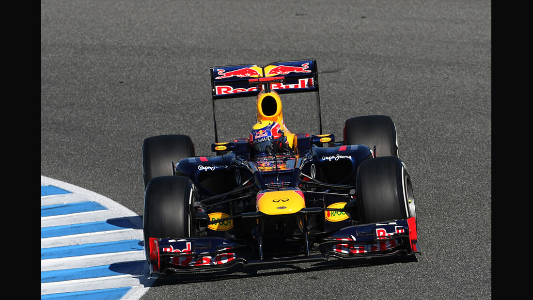 Formel 1 Test, Jerez, Tag 1, Red Bull, Mark Webber