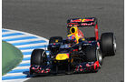 Formel 1 Test, Jerez, Tag 1, Red Bull, Mark Webber