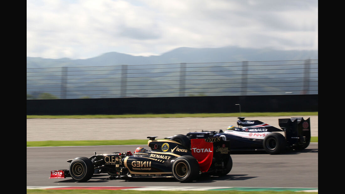 Formel 1-Test, Mugello, 02.05.2012, Romain Grosjean, Lotus Renault GP, Bruno Senna, Williams