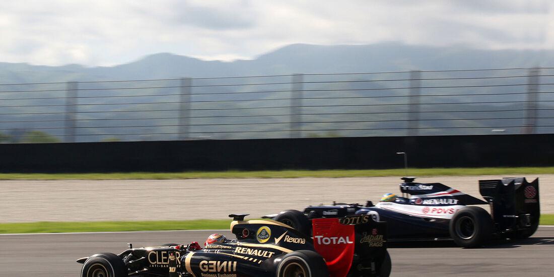 Formel 1-Test, Mugello, 02.05.2012, Romain Grosjean, Lotus Renault GP, Bruno Senna, Williams