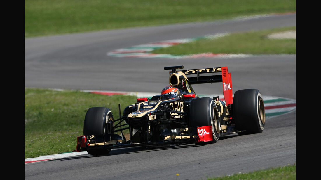 Formel 1-Test, Mugello, 02.05.2012, Romain Grosjean, Lotus Renault GP