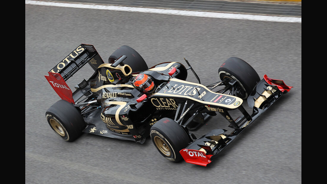 Formel 1-Test, Mugello, 03.05.2012, Romain Grosjean, Lotus Renault GP