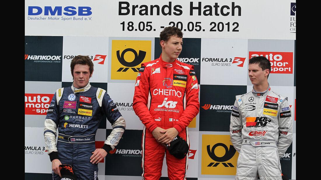 Formel 3 Brands Hatch 2012, Raffaele Marciello, William Buller, Michael Lewis