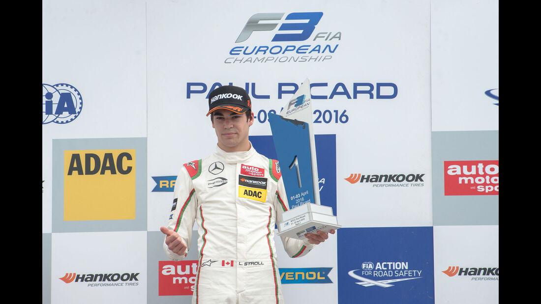 Formel 3-EM - Paul Ricard - Lance Stroll