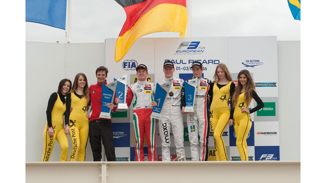 Formel 3-EM - Paul Ricard - Podium - 3. Lauf