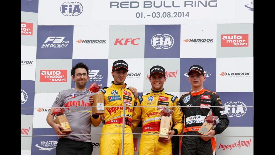 Formel 3 - Österreich 2014 - Spielberg - Red Bull Ring - Rennen 1 - Podest