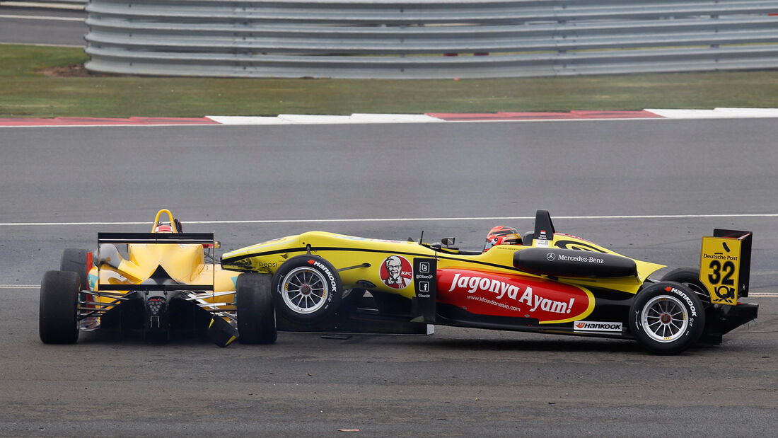 Formel 3 Silverstone 2013 Zeller vs Gelael