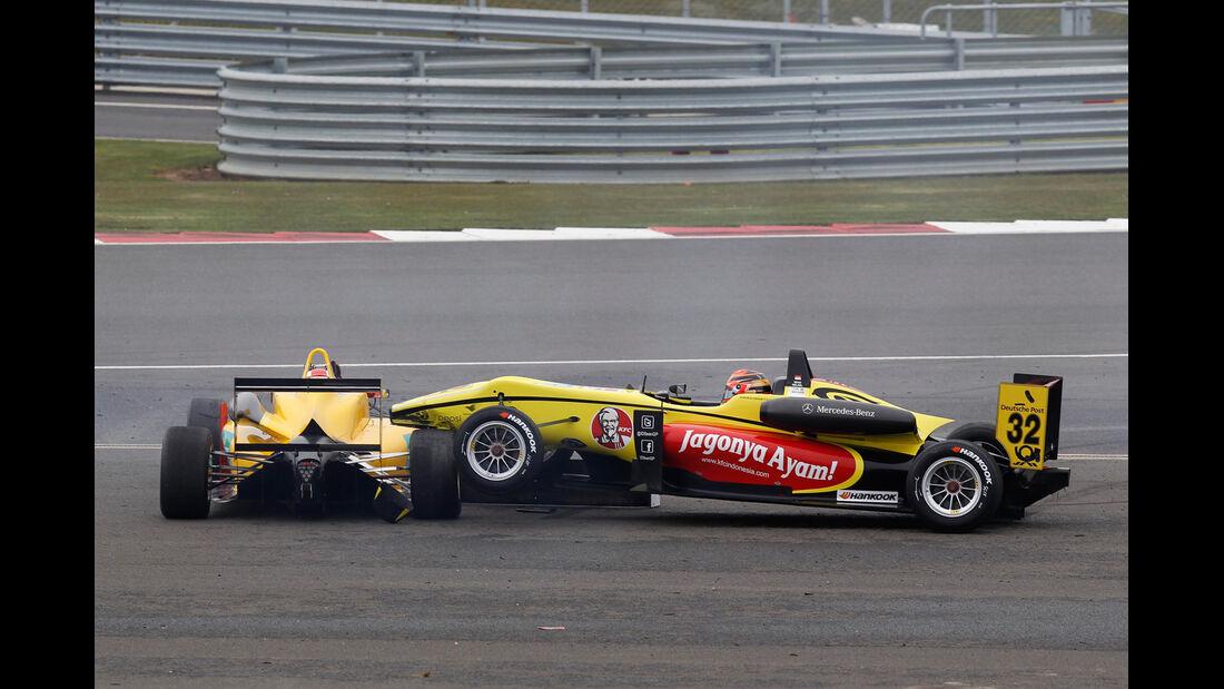 Formel 3 - Silverstone - Crash - 2013