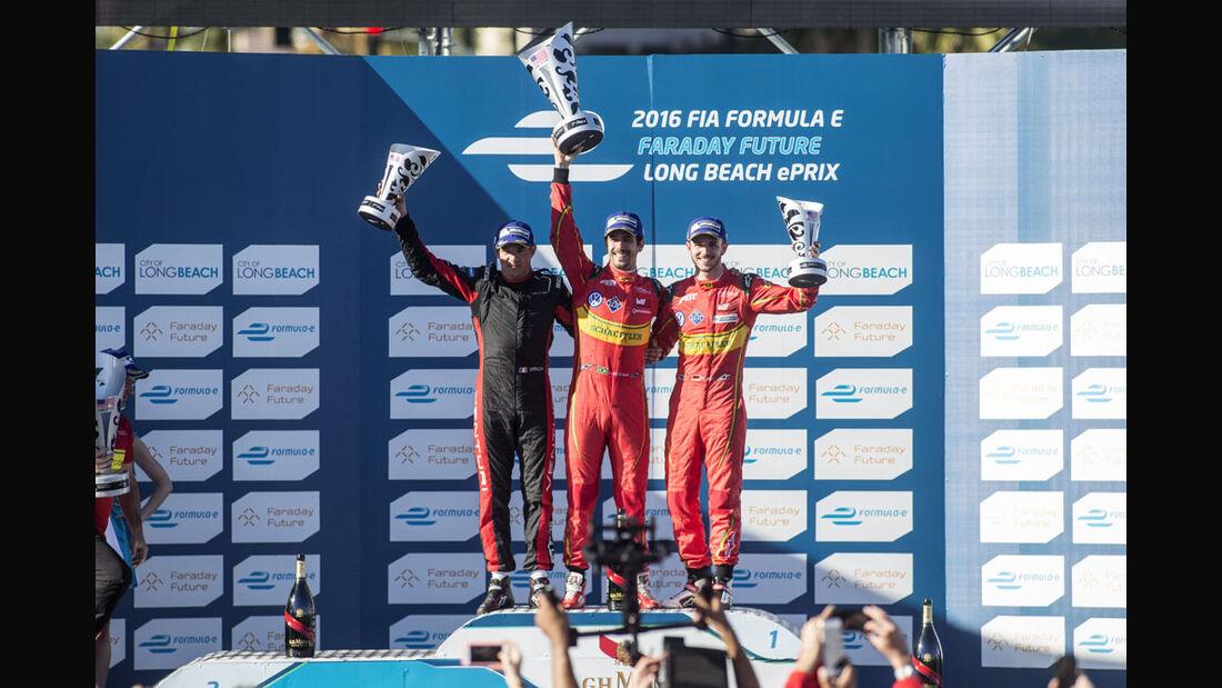 Formel E - Long Beach - Podium - 2016