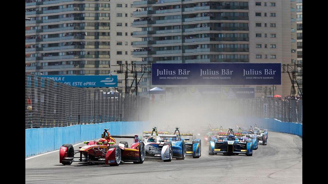 Formel E - Punta del Este - Rennen - Start - 13.12.2014