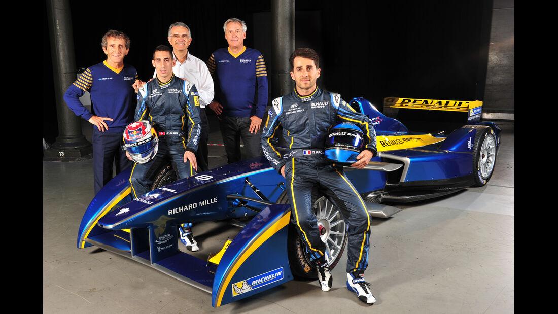 Formel E - Sebastien Buemi, Alain & Nicolas Prost 2014