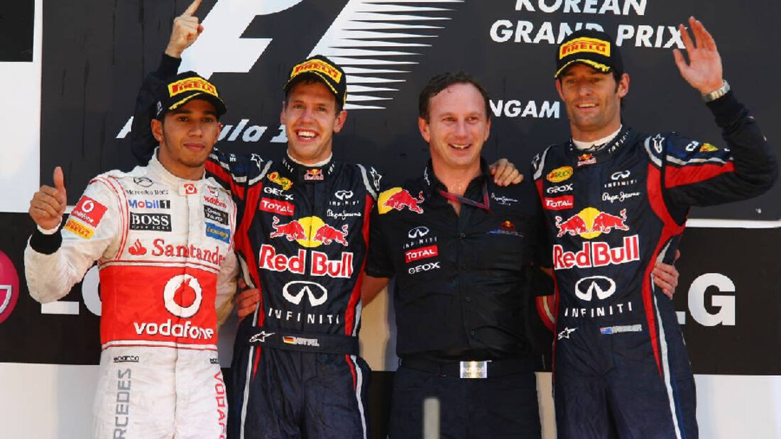 Formula 1 Grand Prix, Korea, Sunday Podium