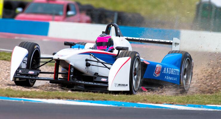 Franck Montagny - Formel E-Test - Donington - 07/2014