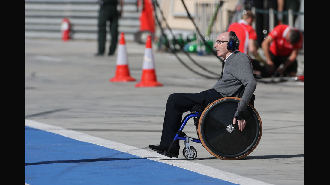 Frank Williams - Formel 1 - Bahrain-Test 2014