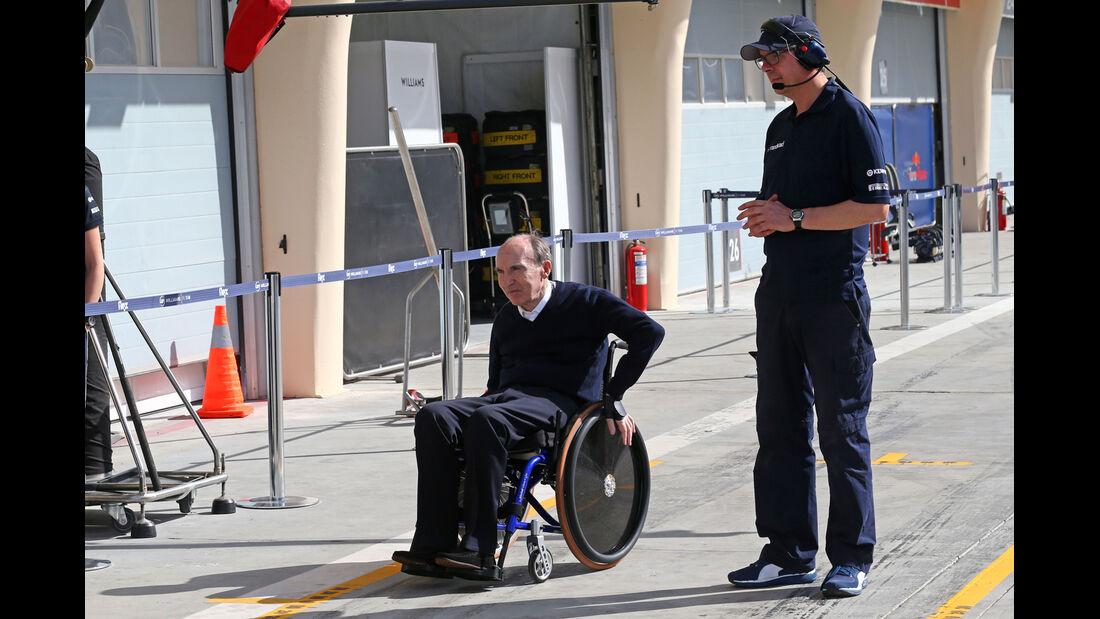 Frank Williams - Formel 1 - Test - Bahrain - 1. März 2014