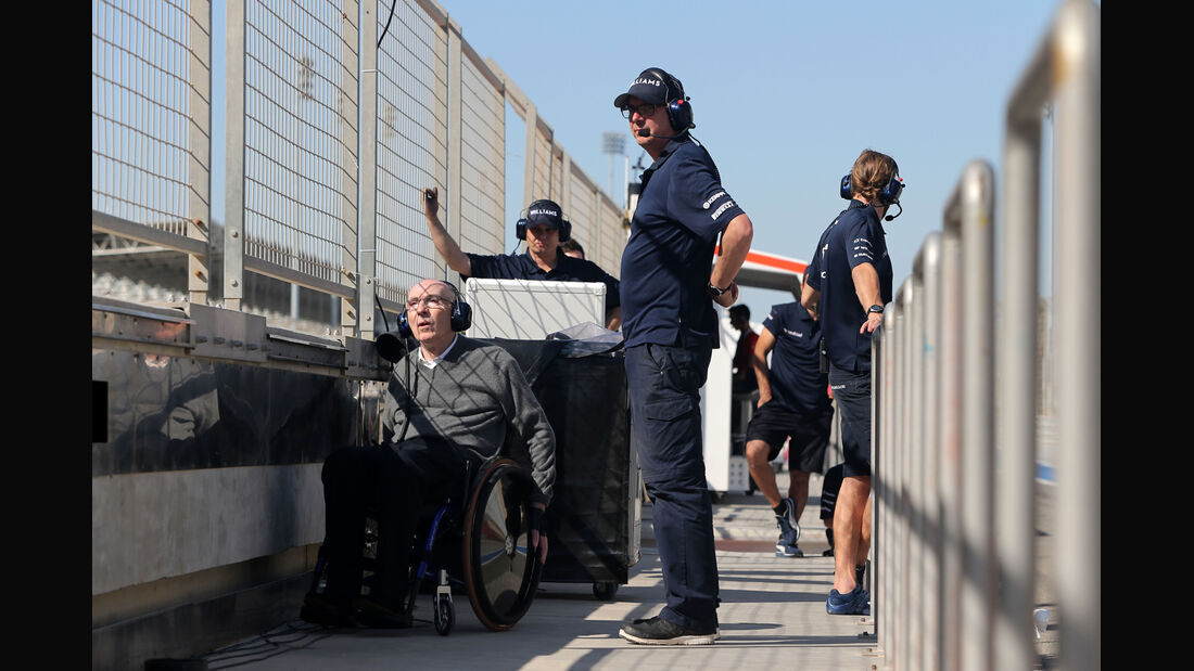 Frank Williams - Formel 1 - Test - Bahrain - 2. März 2014