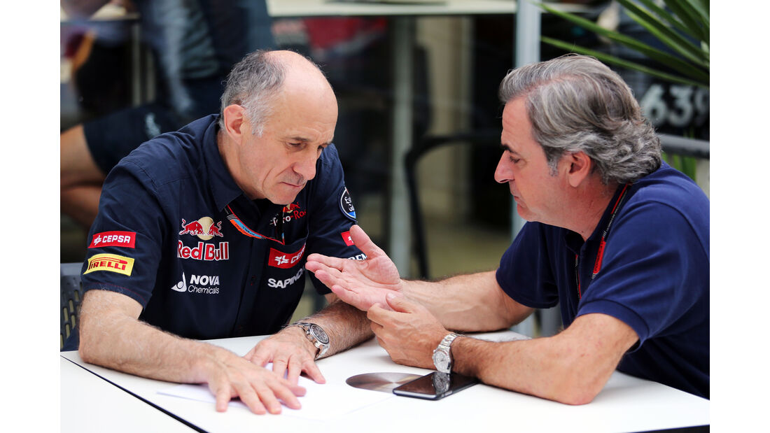 Franz Tost - Carlos Sainz  - Formel 1 - GP Brasilien- 13. November 2015