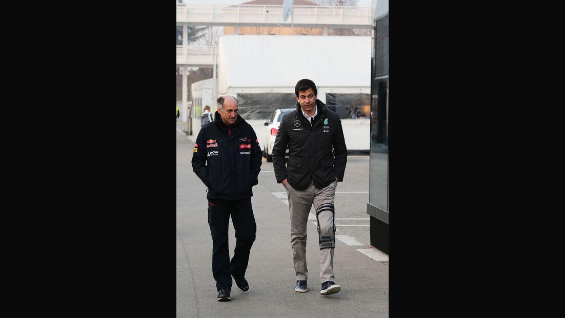 Franz Tost & Toto Wolff - Formel 1-Test - Barcelona - 19. Februar 2015
