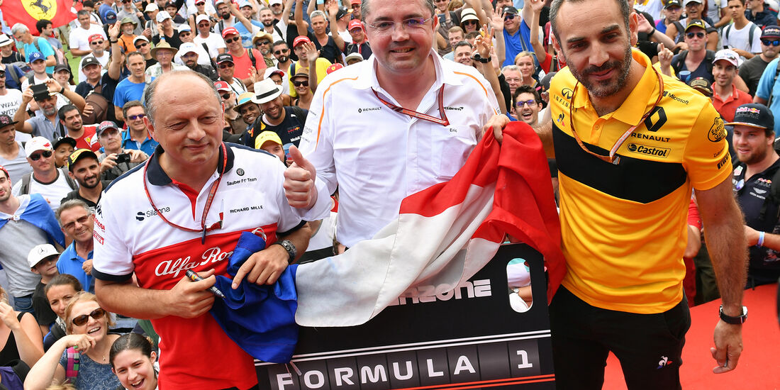 Frederic Vasseur, Eric Boullier & Cyril Abiteboul - Formel 1 - GP Frankreich - Circuit Paul Ricard - Le Castellet - 23. Juni 2018