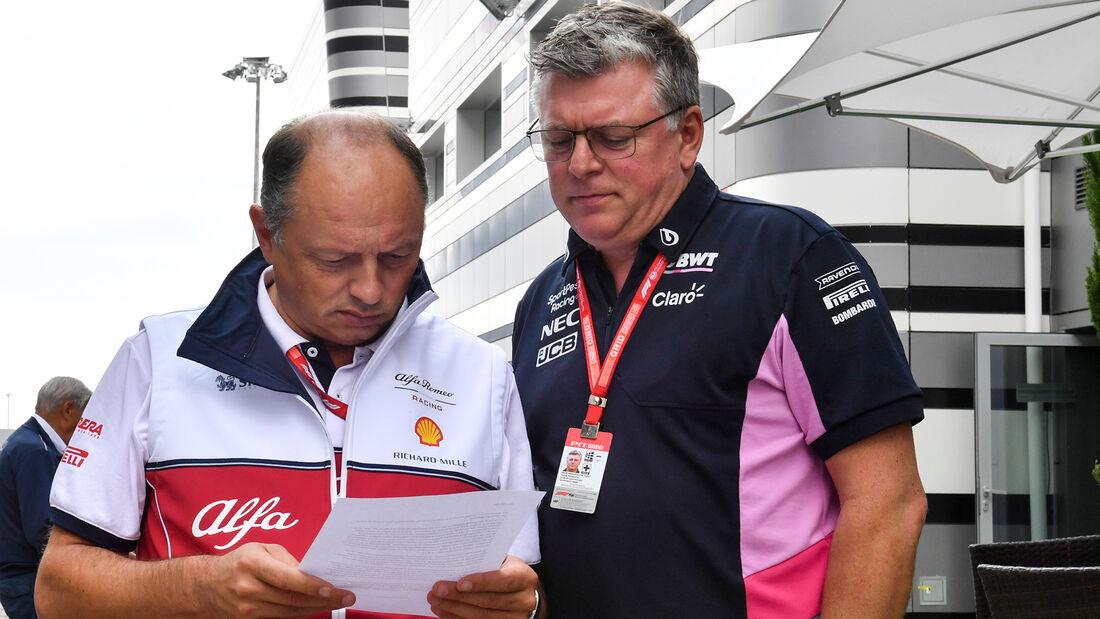 Frederic Vasseur & Otmar Szafnauer - F1-Teamchefs - 2019