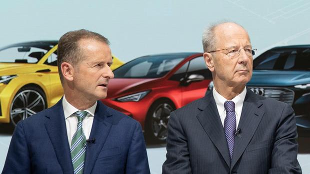 Freigekauft: VW-Konzernchef Herbert Diess (l.) und der Aufsichtsratsvorsitzende Hans Dieter Pötsch.