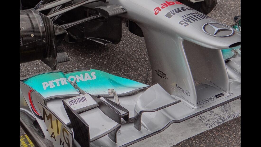 Frontflügel Mercedes  - Formel 1 - GP China - 15. April 2012