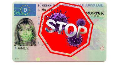 Führerschein Virus Corona