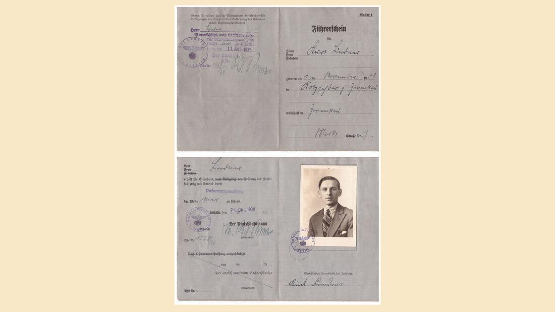 Führerschein der Klasse 4 von 1938