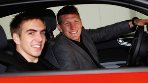 Fussballer, FC Bayern, Lahm, Schweinsteiger, Audi A1