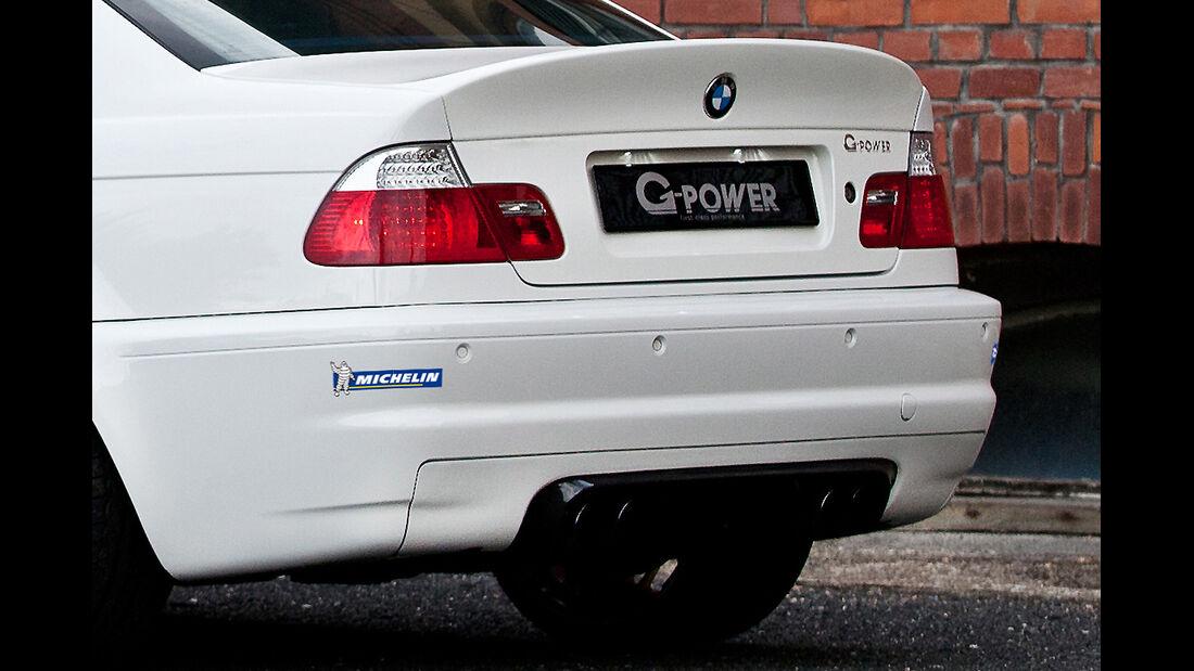 G-Power BMW M3 E46, Heck, Auspuff, Rücklicht