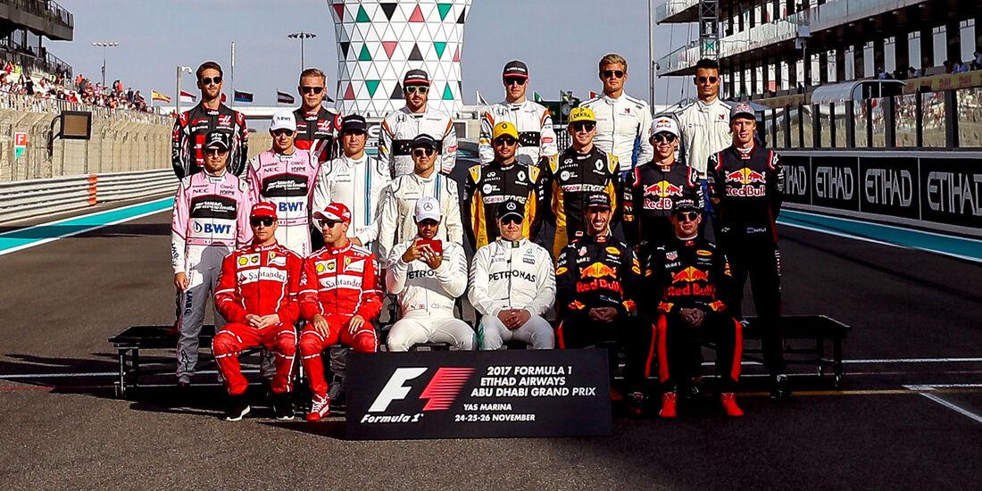 GP Abu Dhabi 2017 - Fahrer - Formel 1