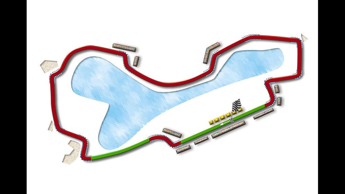 GP Australien Melbourne Strecke DRS Zone 2013