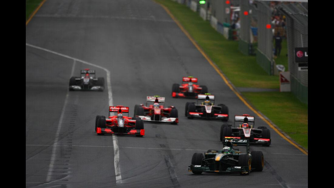 GP Australien Zielgerade 2010