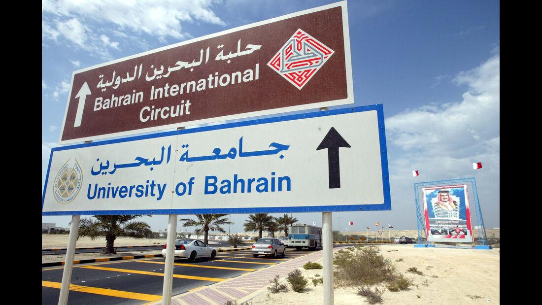 GP Bahrain Schild Formel 1 F1
