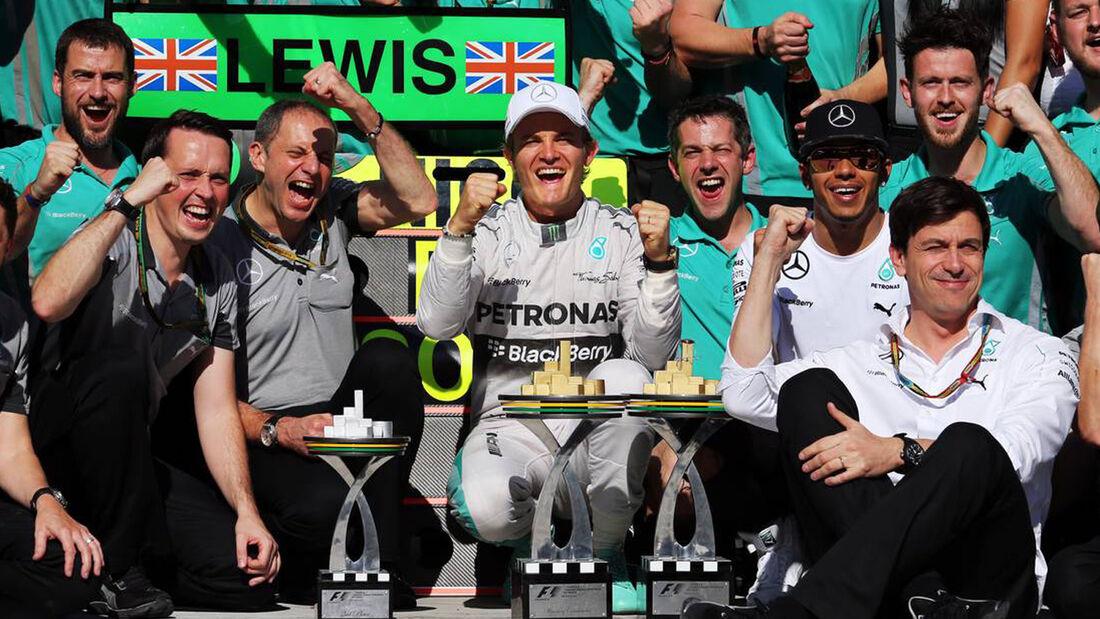 GP Brasilien 2014 - Lewis Hamilton - Nico Rosberg