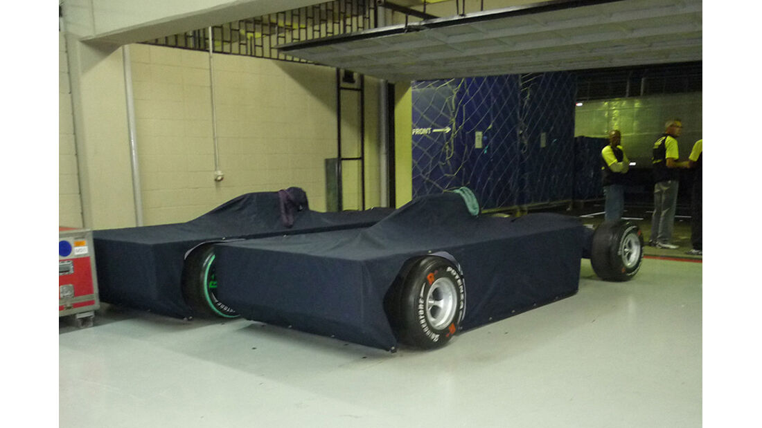 GP Brasilien Logistik Autos Decke
