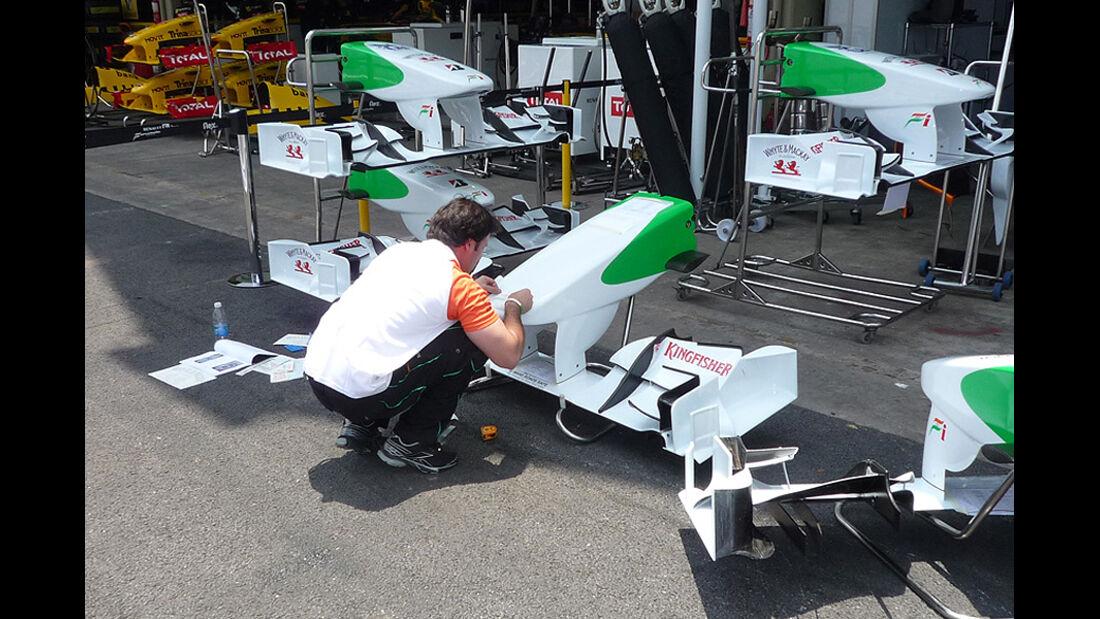 GP Brasilien Logistik Flügel Force India