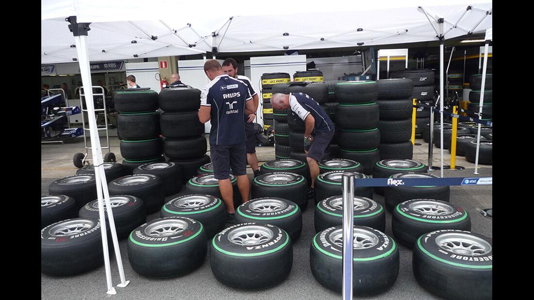 GP Brasilien Logistik Reifen