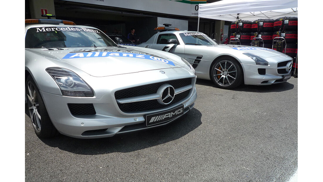 GP Brasilien Logistik Saftey Car